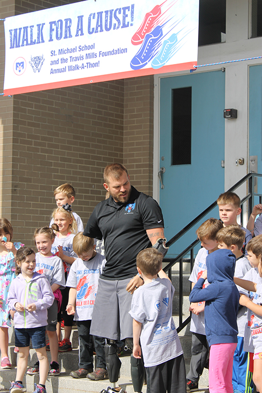 Second annual St. Michael School walk-a-thon benefits Travis Mills Foundation