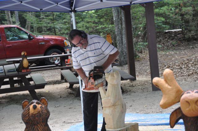 E ck all chainsaw art maine wildlife park w pix