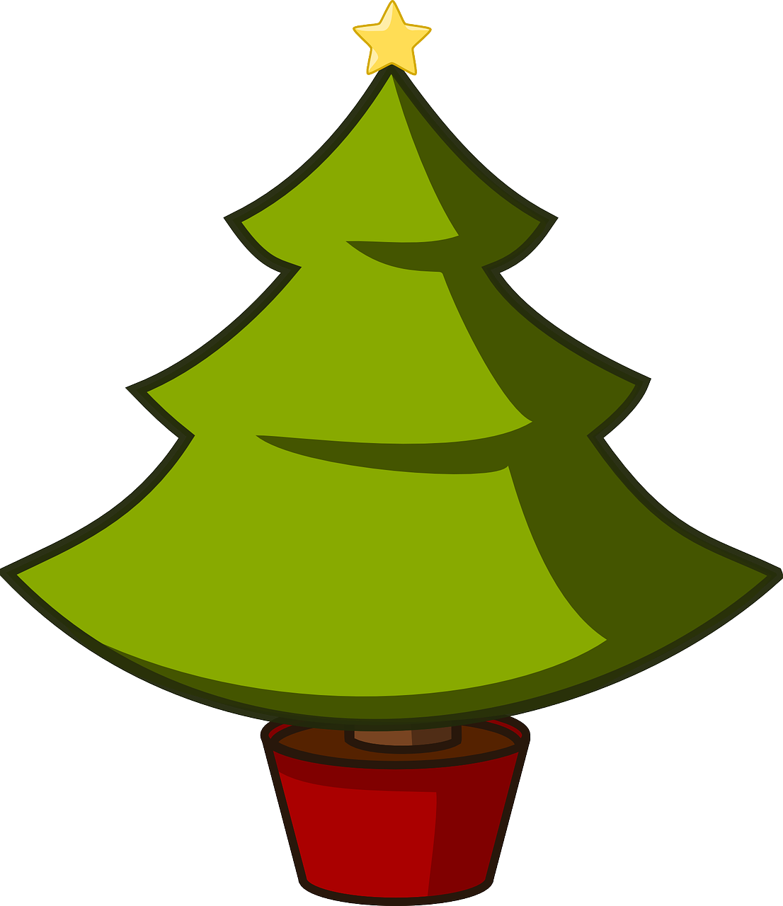 Scout Clip Art Christmas Tree - Clipart Library •