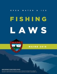 Maine if w reminds fishermen of new laws that took effect for Maine ice fishing laws