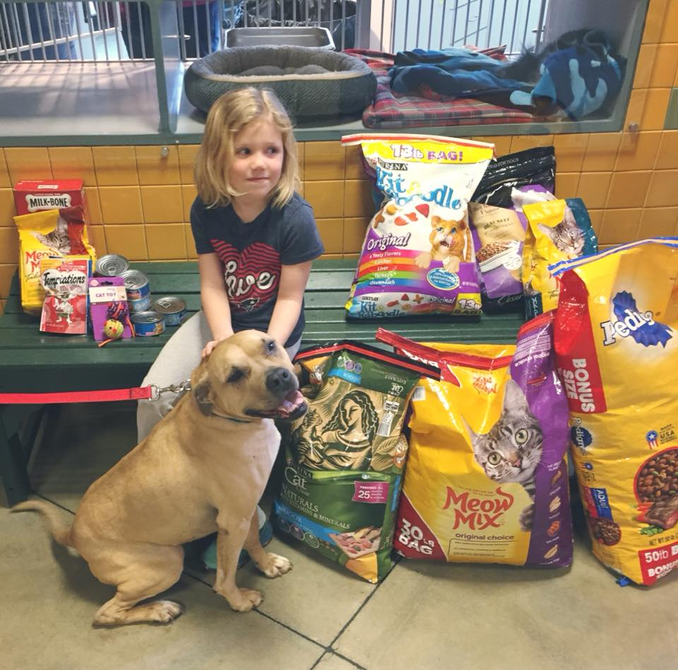 Local Girls Make Donations To Greater Androscoggin Humane Society