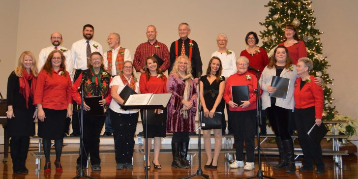 The 2017 Community Christmas Choir at the Western Mountains Baptist Church. (Crystal Fitch photo)
