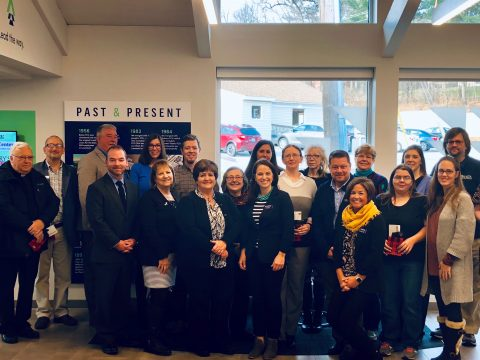 The Dirigo FCU management team presented checks to local agencies on Nov. 15, at the Auburn branch, 26 Washington St. (Submitted photo)