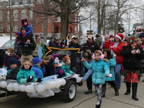 The Snow Day float from Mallet School was the winner in Farmington's Chester Greenwood Day parade. (Submitted photo)
